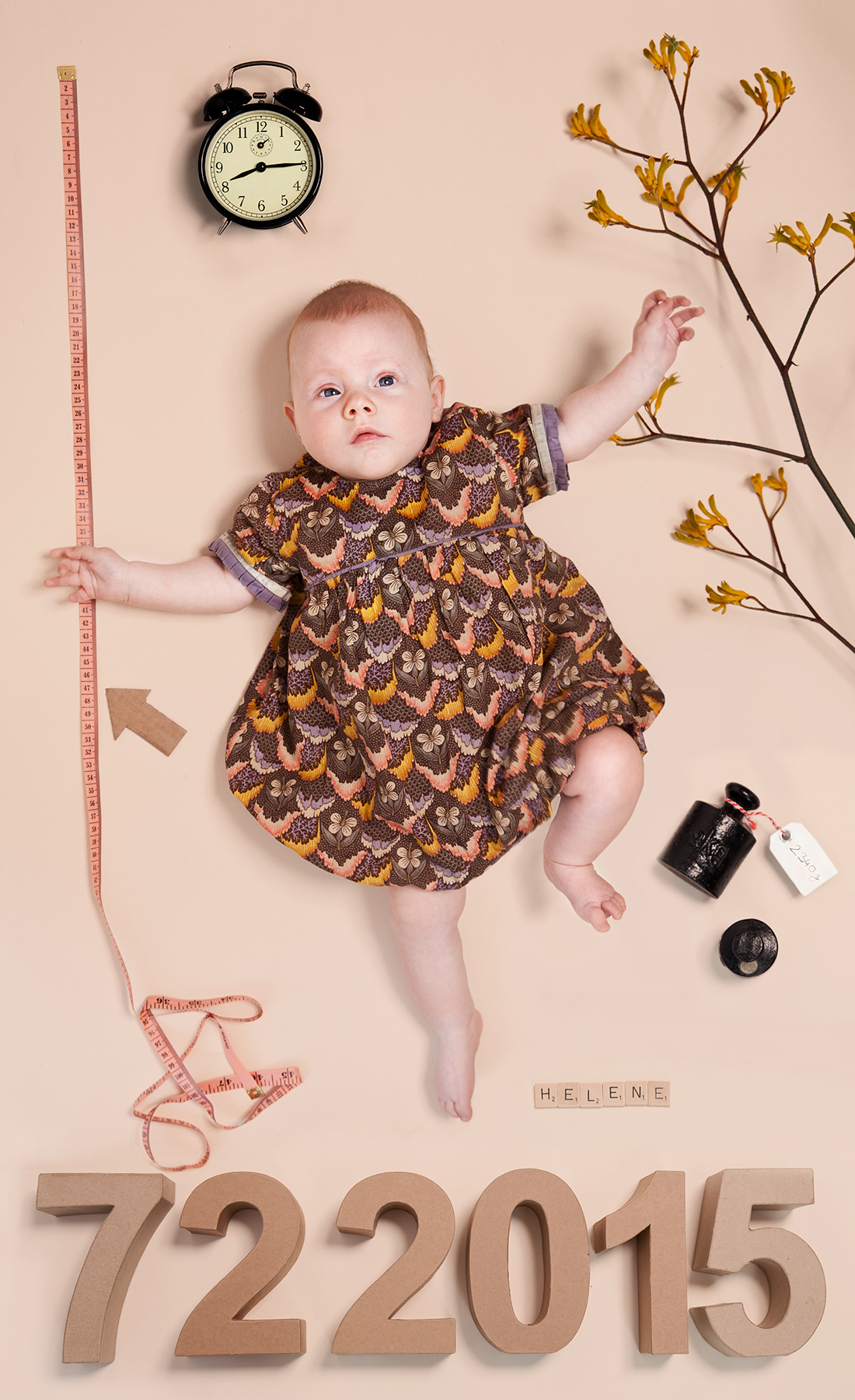 Babyportrait Collage Helene, Berlin 2015